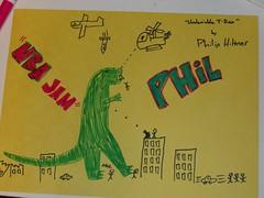 HPIM0230 (goatsjump) Tags: primitive art godzilla buildings smash attack planes bombs gunfire