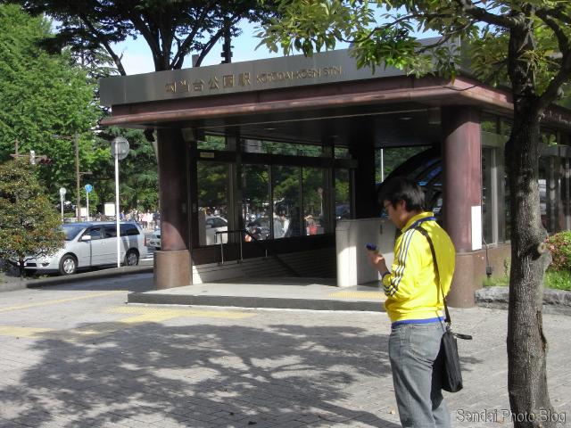 Waiting by Kotodai Station in Sendai