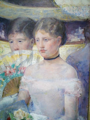 Mary Cassatt, The Loge with detail of figures