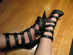 Goth Gladiator (daradactyl) Tags: shoes gladiator 365project comfyactually