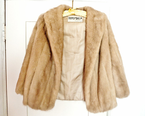 Vintage Blonde Fur from Goodwill