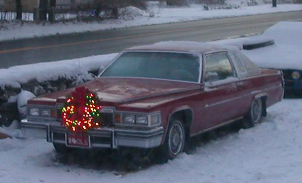 2005 christmas xmas red big cadillac deville 1979 coupe 79