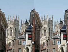 Low Petergate 3D (sfryers) Tags: york stpeters tower architecture stereogram 3d crosseye cathedral yorkshire sigma historic minster 2470 13556