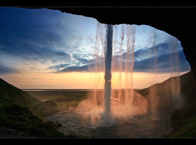 Seljalandsfoss from Behind