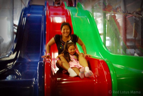sliding with mama