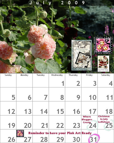 July 2009 Blogging Calendar