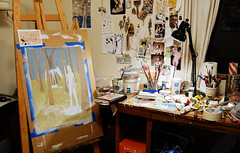studio shot (galendara) Tags: art painting studio paint artist workinprogress paints artistatwork artstudio paintingstudio