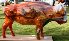 "Part of the ""Where the Painted Buffalo Roam"" exhibit, West Yellowstone, Montana (IMG_1685a) (Alaskan Dude) Tags: travel art buffalo montana wildlife westyellowstone paintedbuffalo wherethepaintedbuffaloroam"