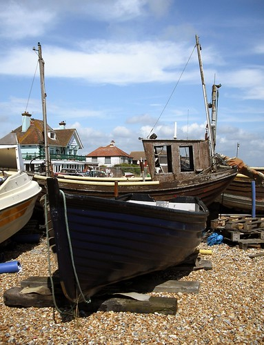 old sea sky cloud beach water boats sussex bay boat wooden cabin south shingle pebbles used eastbourne mast southeast fishingboat masts eastsussex pevensey pevenseybay vickiburton