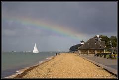 Rainbow over Cowes (leightonian) Tags: uk sun beach rain i