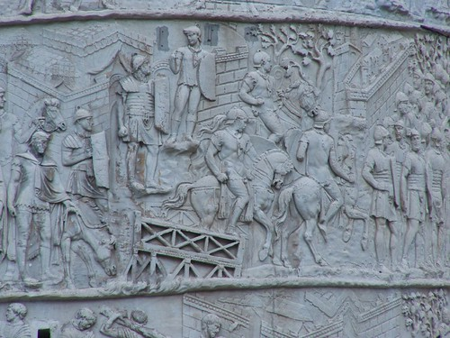 Trajan's Column Depicting Scenes From The Dacian Wars Roman 2nd century CE (14) by mharrsch.