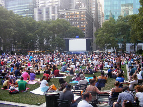 A sea of humanity in Bryant Park. acnatta/Flickr