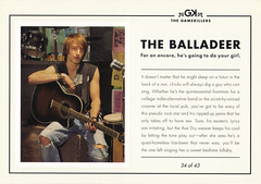 AXE Deodorant THE BALLADEER Ad Postcard (crayolamom) Tags: guy advertising guitar postcard ad axe series deodorant balladeer gamekiller