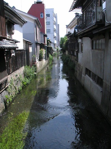 A stream in the town
