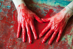 Les mains sales-42 (metatong) Tags: red color painting rouge blood hands acrylic hand main peinture killer murder dexter sang mains guilty murderer coupable acrylique tueur d300 redpaint meurtre meurtrier peinturerouge
