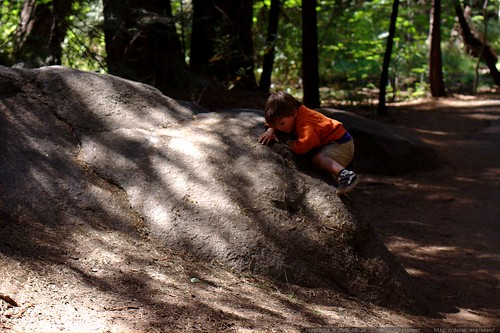 baby bouldering enroute to the happy isles bus stop - _MG_4037