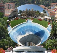 A Big Blue (Micheo) Tags: reflejos reflection mirror espejo monaco montecarlo casino fuente fountain