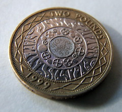 Two Pound Macro Test Coin