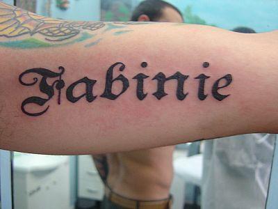 tatoo escrita imagens