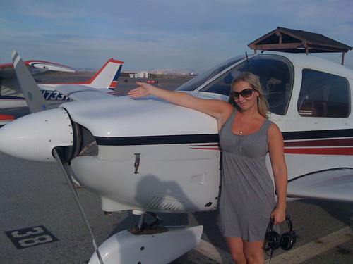My first chartered flight