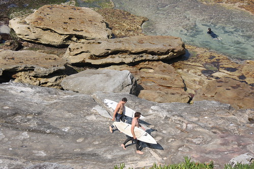 Surfers at Mackenzies Point, Sydney