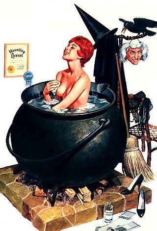 Witch Takes A Bath