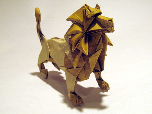 "Joseph Wu's Origami - ""Lion (take 2)"""