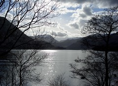 The Lake (troubleman27) Tags: trees mountains water clouds contrast digital landscape scenery colours lakes fells lakeland