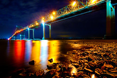 Pont Laviolette (Pierre Contant) Tags: bridge tourism night photoshop nikon quebec pierre wideangle tokina pont troisrivieres d300 cs4 1116 contant pontlaviolette goldstaraward tokinaatx116prodx pierrecontant