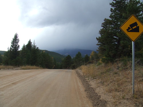 Cold front rolling in over Gold Hill, CO