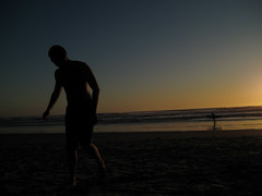 Dex at the Beach (eric adrian lee) Tags: sunset silhouette surf dex