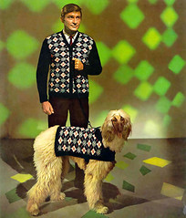 ... checkered man and dog! (x-ray delta one) Tags: fashion advertising geek loser ad style retro 1950s 1960s dork vintageadvertising