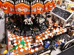 Paul Hetherington's Zombie Carousel at Brickcon 09 (Brickbaron) Tags: halloween lego zombie 09 moulinrouge 2009 casabaron grandcarousel brickcon apocalego paulhetherington apocafest brickbaron zombiecarousel