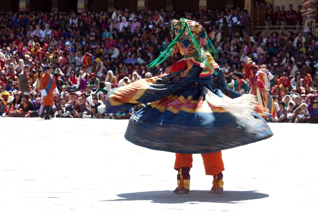 Mask Dance at the Thimphu Tshechu