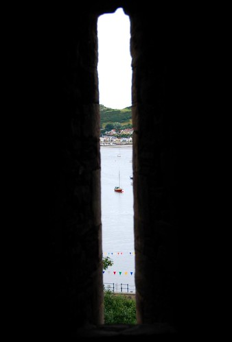 murder hole, conwy castle