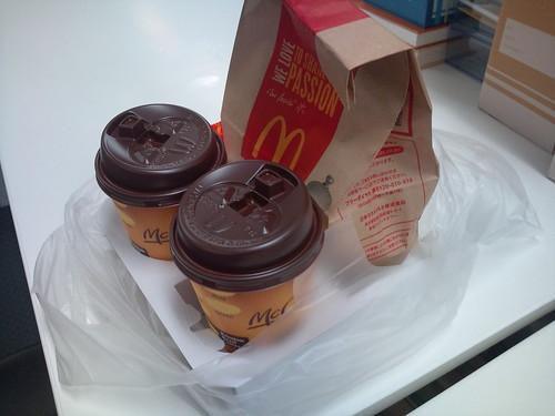 マクドナルド_コーヒーサンプリング1