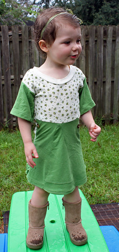 Refashioned Toddler Dress