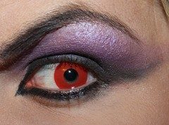 Eye (Jessica-666) Tags: red black eye goth makeup evil transvestite contactlense