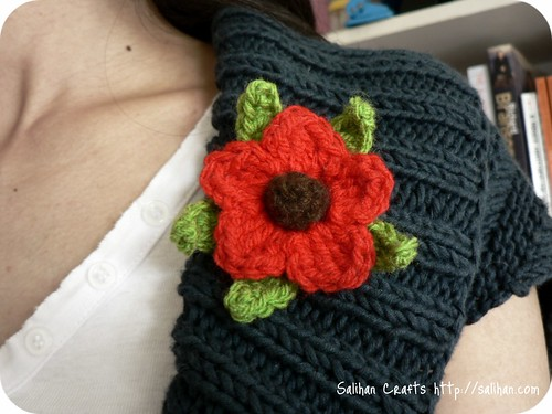 Crochet Flower Brooch