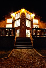 North Haven Resort at night (North Star and North Haven Resorts) Tags: canada haven plane lunch corporate star fly fishing cabin five north lodge resort manitoba gourmet shore pike float northern spa luxury walleye sauna outpost