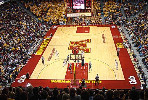 Minnesota Basketball Court Minnesota Gophers Court
