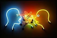 DSC07865 (hellothomas) Tags: sculpture art neon denverartmuseum dam brucenauman doublepokeintheeye