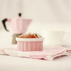 Sweet like Valeria (3) (Jackie Rueda) Tags: pink stilllife kitchen coffee cake breakfast sweet 50mm14 explore ramekin kitchentowel mokapot wwwjackieruedacom