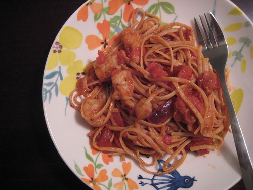 bacon + shrimp linguine