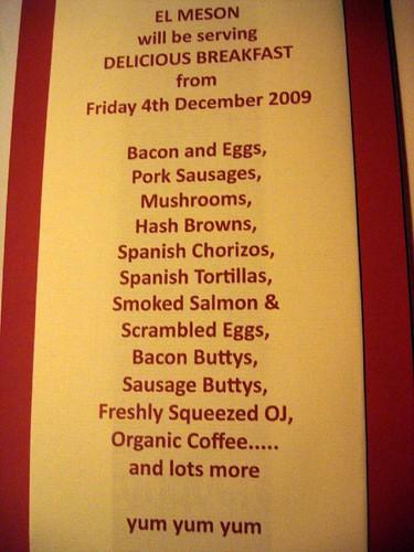 brekkie menu