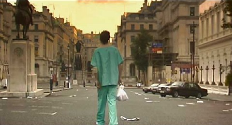 ibIn 28 Days Later, London is a ghost town... filled with the living dead./b/i