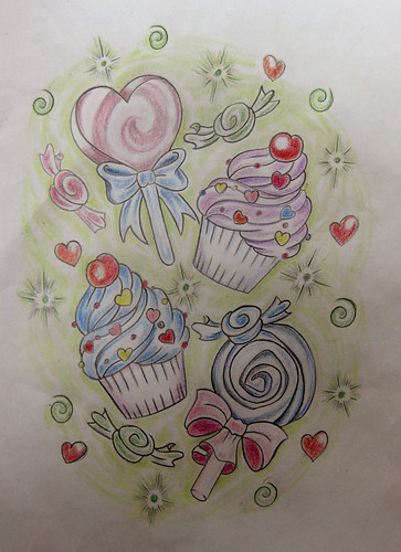 Marcia · candy tattoo flash