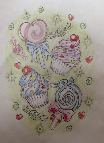 Marcia · candy tattoo flash