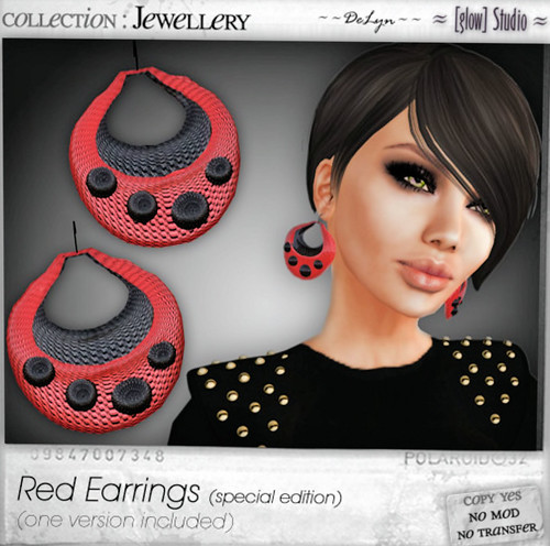 50L Weekend Fever Glow red earrings