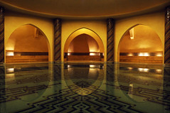Ablution Room, Hassan II Mosque in Casablanca (Brave Lemming) Tags: fountain architecture mosaic room muslim islam curves religion mosque morocco maroc casablanca arabian ablution hassanii hassaniimosque